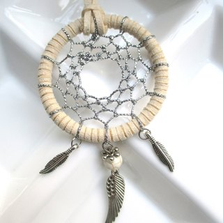 Small kite - Dream Catcher necklace - white