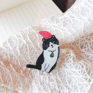 Miss Christmas cat mask - pin