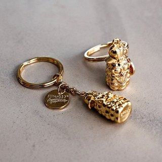 Filter017 - 鑰匙圈 - Filter017 X Trex 3D POPCORN Golden Age Key Chain 玉米人黃金年代鑰匙圈