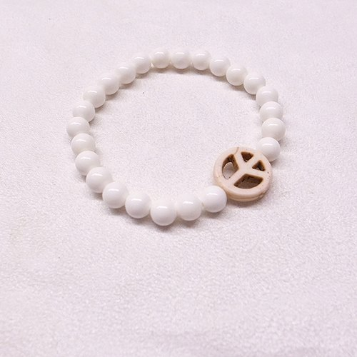 ☽ Qi Xi hand for ☽ [07195w1] peace sign bracelet clam paragraph