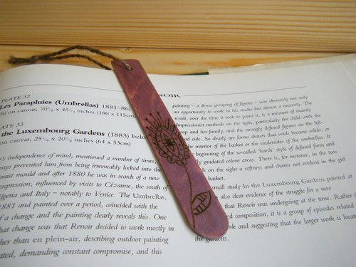 Word ink pause Bookmarks - Feathers