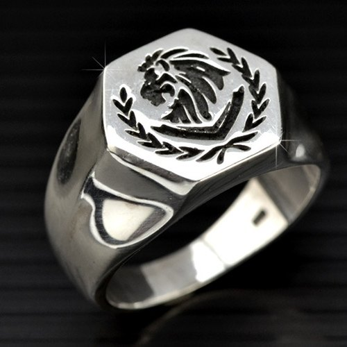 Customized ring .925 sterling silver jewelry RS00034- College / Saddle Ring