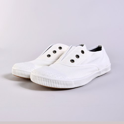 FREE kapok white simple and comfortable / outdoor / national / white shoes / canvas shoes / lazy / casual shoes Taiwan good product