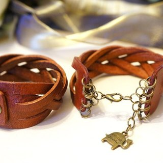 Buckle & prime tone leather twist bracelet / 2