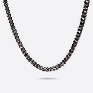 GOOTS / 10MM Cuban Curb-Chain Necklace 10MM粗扁鏈條項鍊