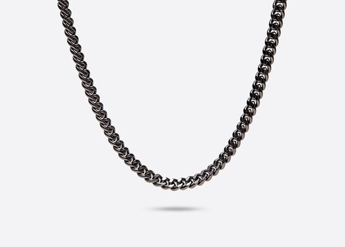 GOOTS / 10MM Cuban Curb-Chain Necklace 10MM thick flat chain necklace