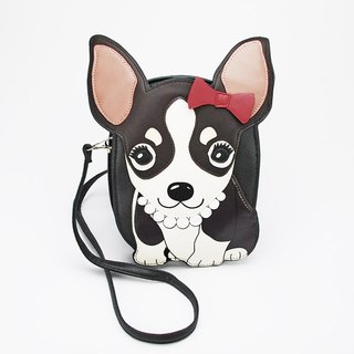 Sleepyville Critters - Classy Chihuahua Puppy Shoulder Crossbody Bag