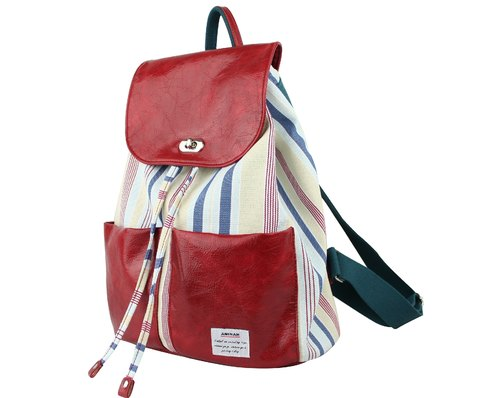 AMINAH- red fantasies Backpack [am-0269]