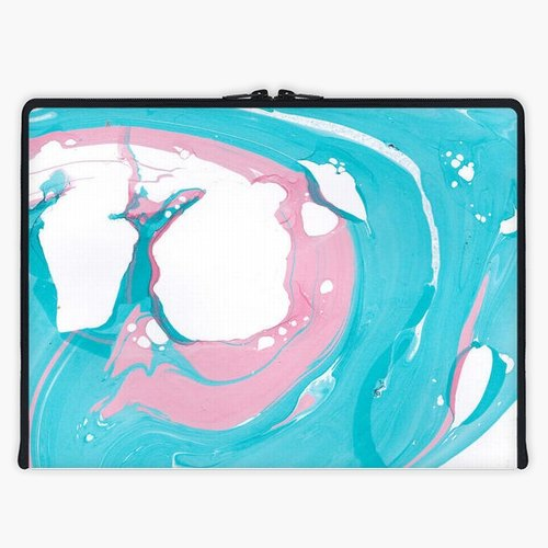 Axis - Custom 3-Sided Zipper Laptop Sleeve - Marbled 2