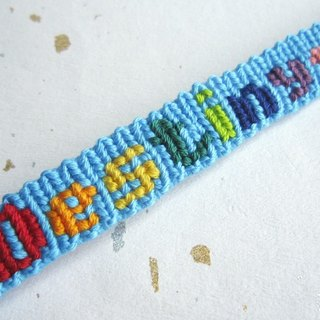 Your name is lucky rope woven bracelet custom 6-15 English letters (optional color)