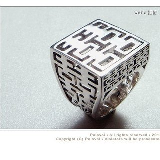 [Wei'C]. * * Hua Tian Well End series on Happiness Happiness plus / metalworking .silver design /