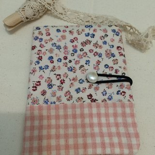 NO.30-flower, plaid, pink, pink // 30th travel passport cover / universal bag