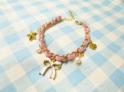 Nadia ♥ Sheng Danjie love hand-made inlaid bracelet bow temperament more stars for Christmas