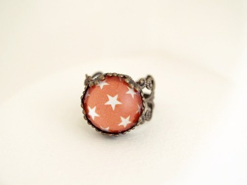 ♥ valentines ♥ ​​OldNew Lady- Bronze Star Ring [orange color]
