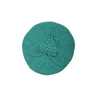 Mint Virgin Wool Leaf Beret