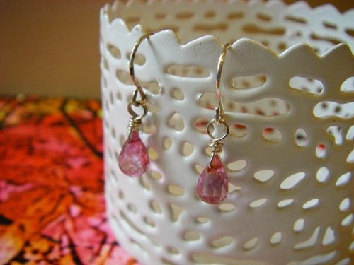 OldNew Lady- [mysterious crystal - light purple] - Gemstone sterling silver earrings