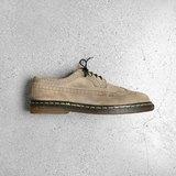 Vintage 英國Dr. Martens 棕色麂皮 5孔雕花鞋