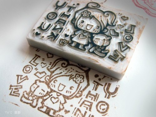 ㄎ ㄎ ㄎ rubber stamp seal + cloth cover series ˙ ˙ [pure hand-made]