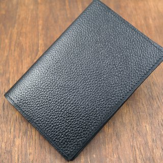 APEE leather handmade ~ passport holder ~ litchi black