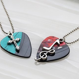 Handmade vinyl guitar picket pick necklace (optional pendant)
