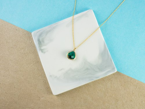 Edith & Jaz • Birthstone Collection - Emerald Quartz (May) Necklace