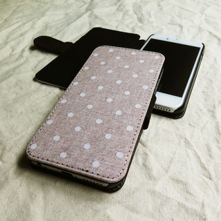 Polka Dots, Linen,  - Designer,iPhone Wallet,Pattern iPhone wallet