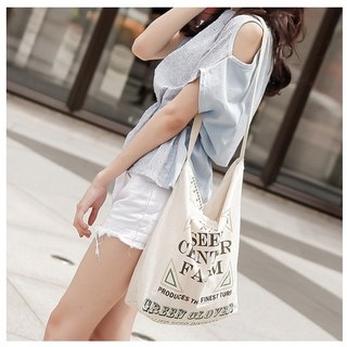 Nature series _ American country backpack shoulder cotton cloth (Frame)