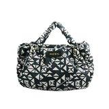 PAZEAL Puffy Handbag – mini 時尚休閒手提肩背小包 (藍絲絨)