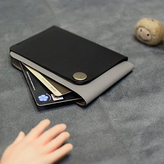 YOURS Overlay Design Leather Business Card Holder Green Leather