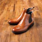 Vanger 優雅美型‧紳士經典卻爾西靴║Va181復古褐