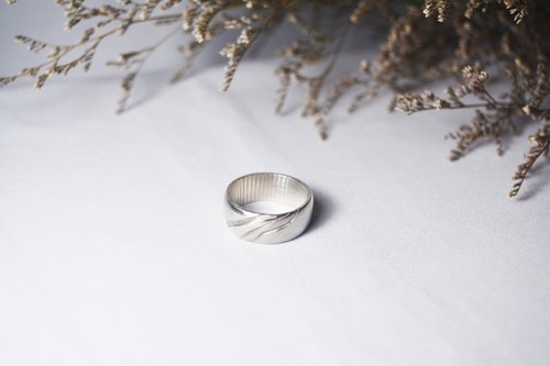 Promise series -Galaxy -handmade silver ring - Man's ring
