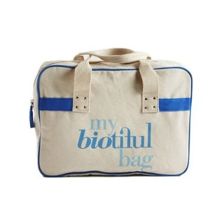 法國my biotiful bag有機棉Boston Bag-Blue