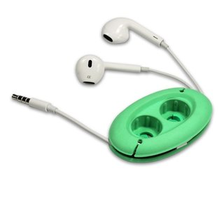 [CARD] MH2 high-quality earbud headphones 3.5mm bass storage group (green) / with the creative force Cikou