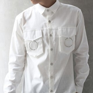 'Brooklyn' Double Moon Shirt (White)