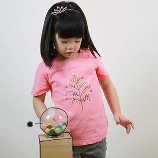 Children's cotton handmade exquisite t-shirt - childlike Vienna tree