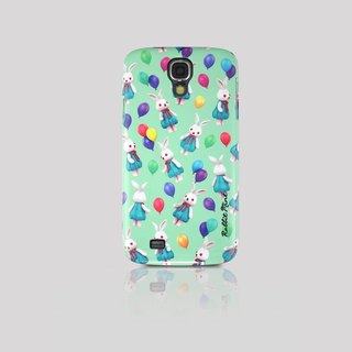 (Rabbit Mint) Mint Rabbit Phone Case - Bu Mali balloons Series Merry Boo - Samsung S4 (M0010)