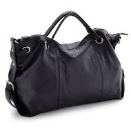 Graduation Gift La Poche Secrete Metropolitan Girl's Smile Bag_Black_Hand-held Leather Bag