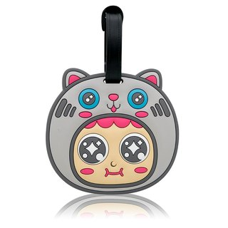 QQ tumbler luggage tag - Cat