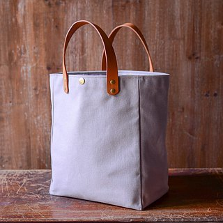 Simple Tote Bag, Washed Grey Handle 2.5cm