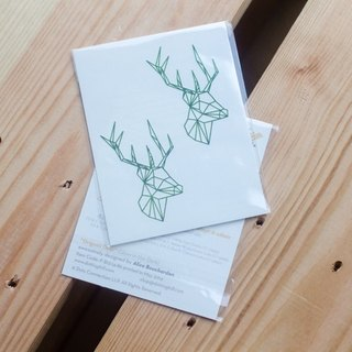 Dottinghill Tattoo Sticker / Origami Deer