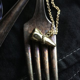 A Tooth Charm Necklace by Defy / Original Brass Handmade Jewelry