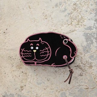 Jeep cat 趴趴 stove embroidery note book notebook accessory pocket