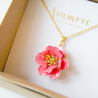 Aramore Stereo Single Flower Pendant Necklace