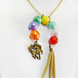 {* *} Rainbow fly ㄦ pony play fun ♥ Necklace