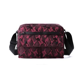 Skyline Lightweight Crossbody Bag (Vintage Red Camouflage)