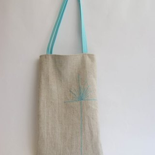 Dandelions embroidery Lunch Bag