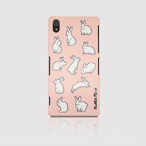 (Rabbit Mint) Mint Rabbit Phone Case - Pink Straight Series - Sony Z2 (P00050)