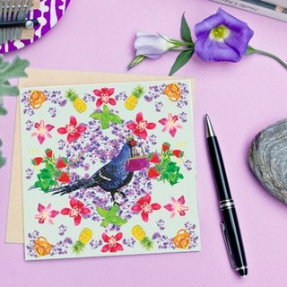 <Nutrients islands> Greeting Cards / Taiwan Mikado pheasant (Single)