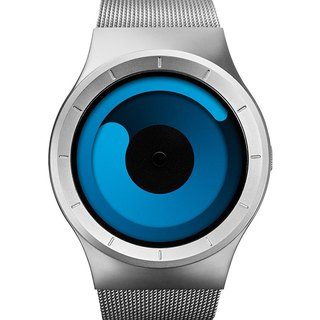 Cosmic gravity watches MERCURY (silver / ocean blue, Chrome / Ocean)