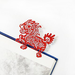 MARK TAIWAN Mai Mai Festival - Xianglin Weifeng Metal Bookmarks - Red